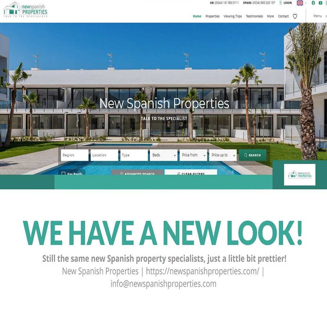 New Build Properties for sale on Costa Blanca, Costa Calida and the Costa del Sol